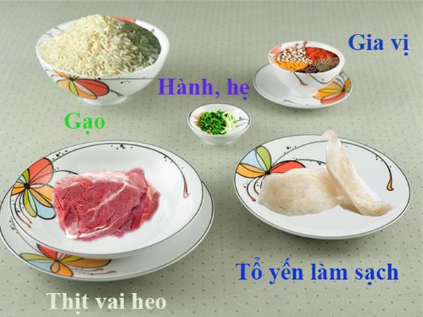 chuan bi nguyen lieu de nau chao to yen ngon 1