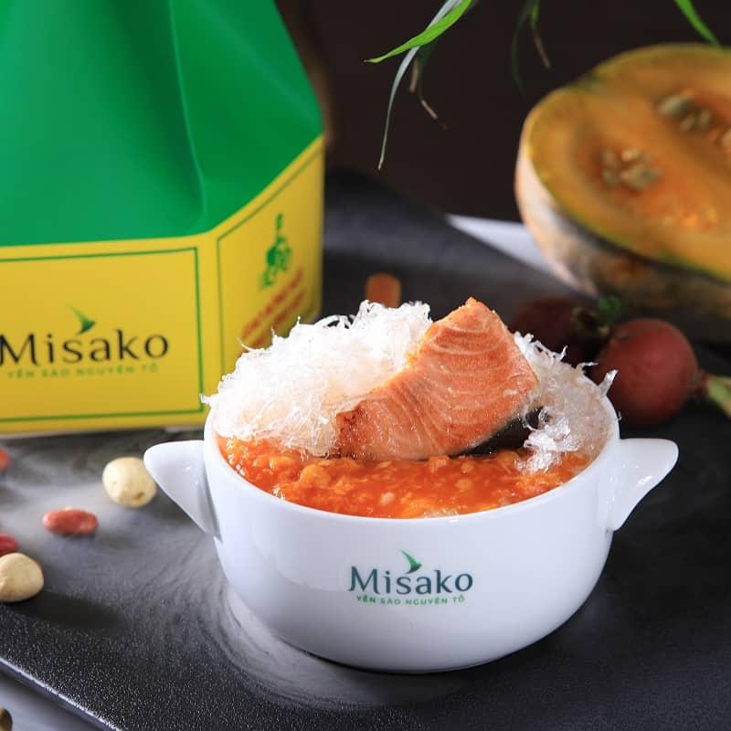 Cháo Tổ Yến Cá Hồi misako