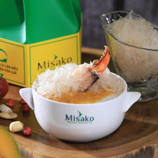 cháo tổ yến cua biển Misako