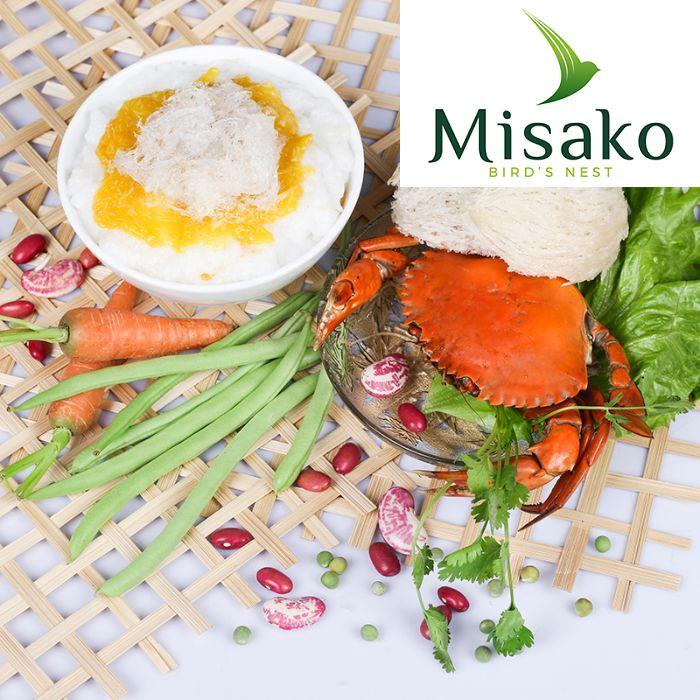 Cháo tổ yến được nghiên cứu và sản xuất bởi công ty Yến Sào Misako - thương hiệu yến hàng đầu tại thị trường Việt Nam