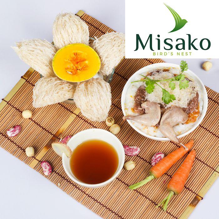Món cháo tổ yến khi Misako rất thơm ngon và giàu dưỡng chất quý hiếm của tự nhiên