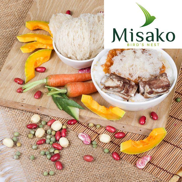 Ngoài yến nguyên tổ, Misako còn cung cấp cho người dùng các món cháo yến thơm ngon đặc biệt.