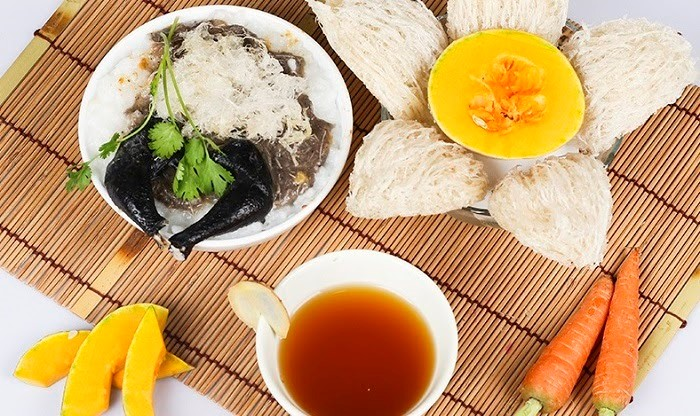 Cháo Tổ Yến Gà Ác , món ăn hấp dẫn ngon tuyệt vời